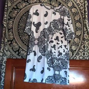 ASOS Paisley midi T-shirt dress (TALL)